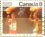 Sellos de America - Canadá -  Intercambio 0,20 usd 8 cents. 1976