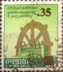 Stamps : Asia : Sri_Lanka :  Intercambio 0,40 usd 35 sobre 25 cents. 1980