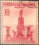 Stamps : America : Colombia :  Intercambio 0,20 usd 15 cents. 1954