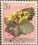 Stamps : Africa : Democratic_Republic_of_the_Congo :  Intercambio 0,20 usd 3 francos 1952
