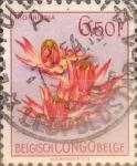 Stamps : Africa : Democratic_Republic_of_the_Congo :  Intercambio 0,20 usd 6,50 francos 1952