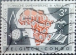 Stamps : Africa : Democratic_Republic_of_the_Congo :  Intercambio 0,20 usd 3 francos 1960