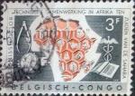 Stamps : Africa : Democratic_Republic_of_the_Congo :  Intercambio 0,20 usd 3 francos 1960