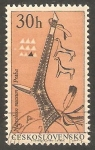 Stamps Czechoslovakia -  1493 - Centº del Museo etnologico de Praga, tomahawk