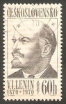 Sellos de Europa - Checoslovaquia -  1784 - Centº del nacimiento de Lenin