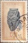 Stamps : Africa : Democratic_Republic_of_the_Congo :  Intercambio 0,25 usd 6 francos 1948