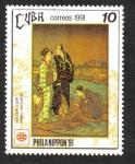 Stamps Cuba -  Philanippon'91 (Pinturas)