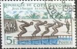sello : Africa : Costa_de_Marfil : Intercambio 0,20 usd 5 francos 1961