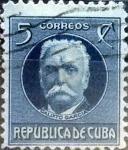 Stamps Cuba -  Intercambio 0,20 usd 5 cents. 1917