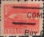 Stamps : America : Cuba :  Intercambio 0,20 usd 1 cents. 1958