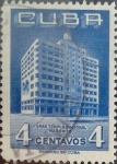 Stamps : America : Cuba :  4 cents. 1956