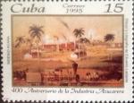 Stamps : America : Cuba :  Intercambio 1,25 usd 15 cents. 1995