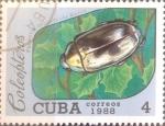 Sellos de America - Cuba -  Intercambio crxf2 0,20 usd 4 cents. 1988