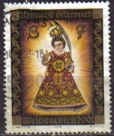 Sellos de Europa - Austria -  AUSTRIA 2001 Scott 1860 Sello Navidad Christmas usado Michel 2362 Osterreich Autriche