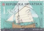Stamps Croatia -  barco de epoca