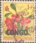 Stamps : Africa : Democratic_Republic_of_the_Congo :  Intercambio 0,20 usd 1 franco 1960