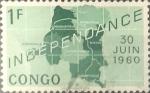Sellos del Mundo : Africa : República_Democrática_del_Congo : Intercambio 0,20 usd 1 franco 1960