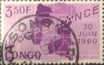 Sellos del Mundo : Africa : República_Democrática_del_Congo : Intercambio 0,20 usd 3,50 francos 1960