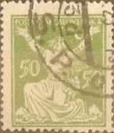 Stamps Czechoslovakia -  Intercambio 0,20 usd 50 h. 1920