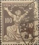 sellos de Europa - Checoslovaquia -  Intercambio 0,20 usd 100 h. 1920