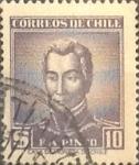 Stamps Chile -  Intercambio 0,20 usd 10 pesos 1956