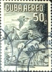 Stamps : America : Cuba :   50 cents. 1956