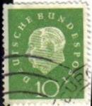 Sellos del Mundo : Europa : Alemania : ALEMANIA 1959 Michel 303 SELLO SERIE BASICA USADO