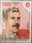 Stamps : America : Cuba :  Intercambio 0,20 usd 8 cents. 1974
