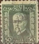 Stamps : Europe : Czechoslovakia :  50 h. 1927