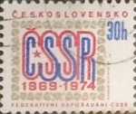 Stamps Czechoslovakia -  Intercambio 0,20  usd  30 h. 1974