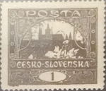Sellos de Europa - Checoslovaquia -  Intercambio 0,20  usd  1 h. 1919
