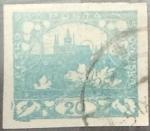 Sellos de Europa - Checoslovaquia -  Intercambio 0,20  usd  20 h. 1918