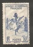 Stamps : Africa : Mauritania :  24 - Danza de los fusiles, en Trarza