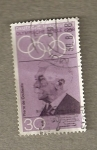 Stamps Germany -  Baron Coubertin