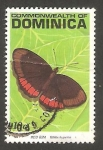 Stamps : America : Dominica :  1298 - Mariposa