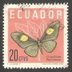 Sellos de America - Ecuador -   676 -  Mariposa