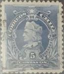Sellos de America - Chile -  Intercambio 0,29  usd  5 cents. 1901