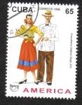 Sellos del Mundo : America : Cuba : Trajes Típicos