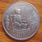 monedas de America - Estados Unidos -  MONEDA USA CONMEMORATIVA ESTADOS- ALABAMA - REVERSO