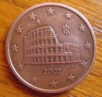 monedas del Mundo : Europa : Italia :  MONEDA EURO- UNION EUROPEA - REVERSO