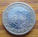 monedas del Mundo : Europa : Francia :  MONEDA EURO- UNION EUROPEA - REVERSO