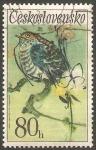 Sellos de Europa - Checoslovaquia -  1956 - Pájaro cantor