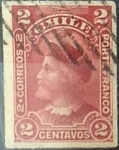 Stamps : America : Chile :  2 cents. 1900