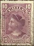 Sellos de America - Chile -  Intercambio 0,70  usd  10 cents. 1900