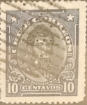 Stamps : America : Chile :  Intercambio 0,20  usd  10 cents. 1915