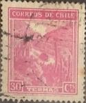 Stamps : America : Chile :  Intercambio 0,20  usd  30 cents. 1938