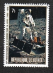 Stamps Guinea -  10th Anniversary Of The First Man On The Moon