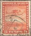Sellos de America - Chile -  Intercambio 0,20  usd  5 pesos 1934