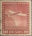 Sellos de America - Chile -  Intercambio 0,20  usd  10 pesos 1934