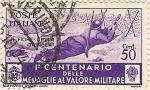 Sellos de Europa - Italia -  1º CENTENARIO DELLE MEDAGLIE AL VALORE MILITARE